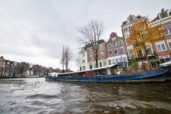 Красивый вид города Амстердама, Нидерландов Стоковые Изображения RF