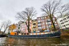 Красивый вид города Амстердама, Нидерландов Стоковое фото RF