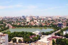 Красивый вид города Краснодар стоковая фотография rf