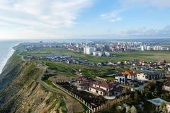 Красивый вид города Anapa стоковое фото rf