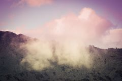 Красивый вид горы стоковая фотография rf