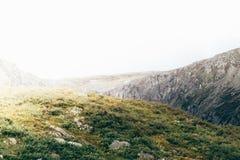Красивый вид долины горы стоковая фотография