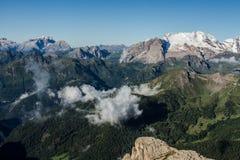 Красивый вид доломитов в Италии стоковая фотография