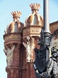 Красивый вид дуги de Triumf в Барселоне стоковые изображения