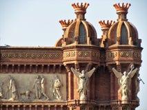 Красивый вид дуги de Triumf в Барселоне стоковая фотография