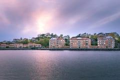 Красивый вид жилой части Гётеборга Стоковые Изображения