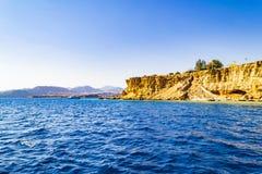 Красивый вид залива Naama, Sharm El-Sheikh, Египта стоковая фотография