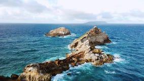 Красивый вид замоков des Pointe, полуостров, большой-Terre, Гваделупа, Вест-Индия сток-видео