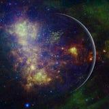 Красивый вид земли от космоса r стоковая фотография rf