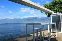 Красивый вид известного озера в Юньнань Стоковая Фотография RF