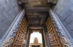 Красивый вид индусского виска Kapaleeshwarar, chennai, Тамильского языка Nad Стоковые Изображения