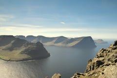 Красивый вид к островам Borðoy, Kunoy и Kalsoy Фарерских островов стоковые фотографии rf