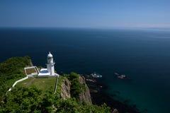 Красивый вид на горизонте на маяке накидки Chikyu Стоковое Изображение
