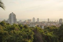 Красивый вид панорамы Паттайя, Таиланда стоковое изображение rf