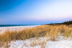 Красивый вид прибрежных дюн Стоковое Изображение