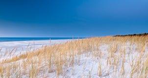 Красивый вид прибрежных дюн Стоковые Фото