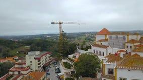 Красивый вид сверху Sintra, Португалия Дворец Sintra национальный r