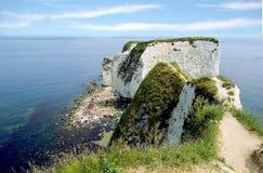 Красивый вид старого Гарри трясет на острове Purbeck стоковые фотографии rf