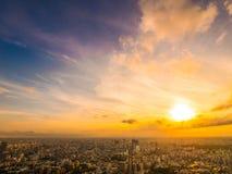 Красивый вид с воздуха архитектуры и здания вокруг токио Стоковое фото RF