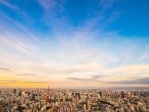 Красивый вид с воздуха архитектуры и здания вокруг токио Стоковая Фотография