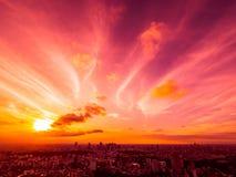 Красивый вид с воздуха архитектуры и здания вокруг токио Стоковые Фото