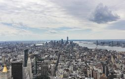 Красивый вид с воздуха горизонта острова Манхэттена стоковая фотография