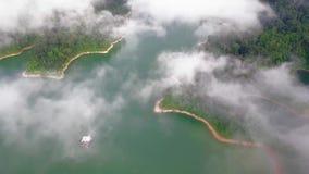Красивый вид с воздуха королевского Belum Малайзии акции видеоматериалы