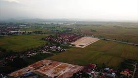 Красивый вид с воздуха Alor Setar Kedah Малайзии от взгляда сверху видеоматериал