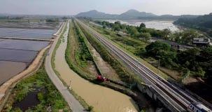 Красивый вид с воздуха Kedah Малайзии около рисовых полей видеоматериал