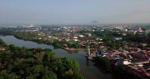 Красивый вид с воздуха Tanjung Chali Kedah Малайзии от взгляда сверху акции видеоматериалы