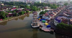 Красивый вид с воздуха Tanjung Chali Kedah Малайзии от взгляда сверху видеоматериал