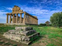 Красивый вид Paestum Италии стоковое изображение rf