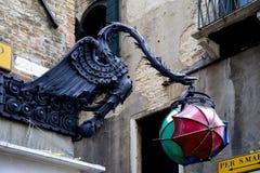 Красивый винтажный уличный фонарь Стоковое Изображение RF