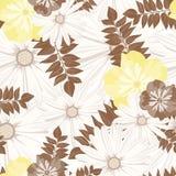 Красивый винтажный цветочный узор картина безшовная Цветы Яркие бутоны, листья, цветки Цветки для поздравительных открыток, плака Стоковые Фотографии RF