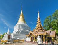 Красивый висок в Янгоне, Мьянме Стоковые Фотографии RF