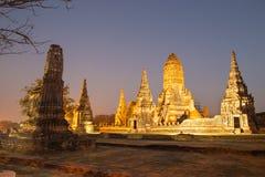 Красивый висок Wat Chai Watthanaram в ayutthaya Таиланде Стоковое Изображение RF