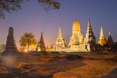 Красивый висок Wat Chai Watthanaram в ayutthaya Таиланде Стоковые Изображения
