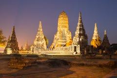 Красивый висок Wat Chai Watthanaram в ayutthaya Таиланде Стоковые Фото