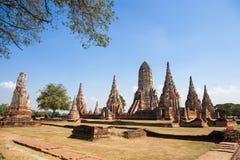 Красивый висок Wat Chai Watthanaram в ayutthaya Стоковая Фотография RF