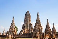 Красивый висок Wat Chai Watthanaram в ayutthaya Стоковые Изображения RF