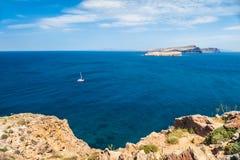 Красивый вид берега моря Стоковые Изображения