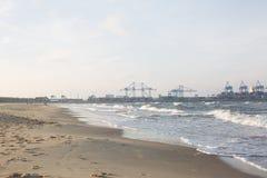 Красивый вид берега моря Стоковая Фотография