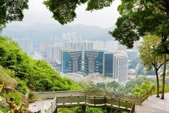 Красивый вид города Гонконга Стоковые Изображения RF