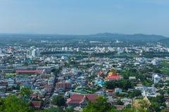 Красивый вид города провинции Nakhon Sawan, Таиланда Стоковое фото RF