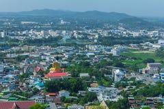 Красивый вид города провинции Nakhon Sawan, Таиланда Стоковая Фотография RF