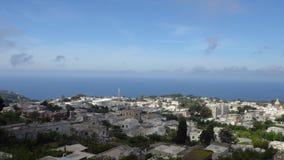 Красивый вид городка Anacapri на острове Капри сток-видео