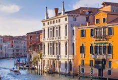 Красивый вид грандиозного канала, Венеции, Италии Стоковая Фотография