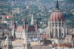 Красивый вид лета Будапешта Венгрии панорама Стоковое Изображение