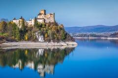 Красивый вид замка Niedzica, Польши, Европы Стоковые Фотографии RF