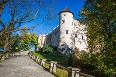 Красивый вид замка Niedzica, Польши, Европы Стоковые Изображения RF